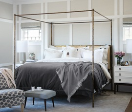 Superior Jaquard Bed in Gray