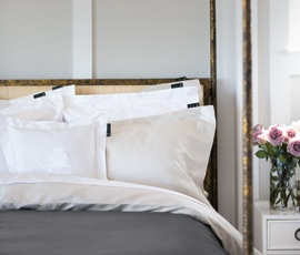 Superior Sateen Bed in White