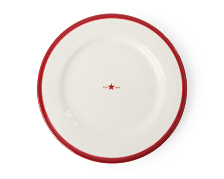 Dessert Plate Red