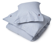 Pin Point Duvet, Navy/White