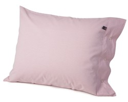 Pin Point Pillowcase, Pink/White