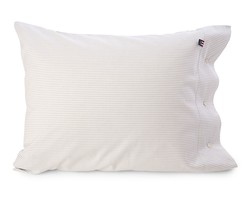 Pin Point Pillowcase, Gray/White