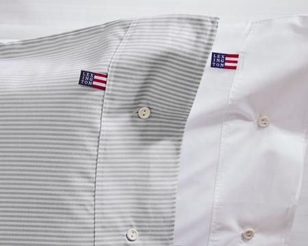 Pin Point Pillowcase, Gray/White