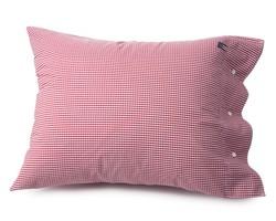 Seaside Check Pillowcase, Red/White