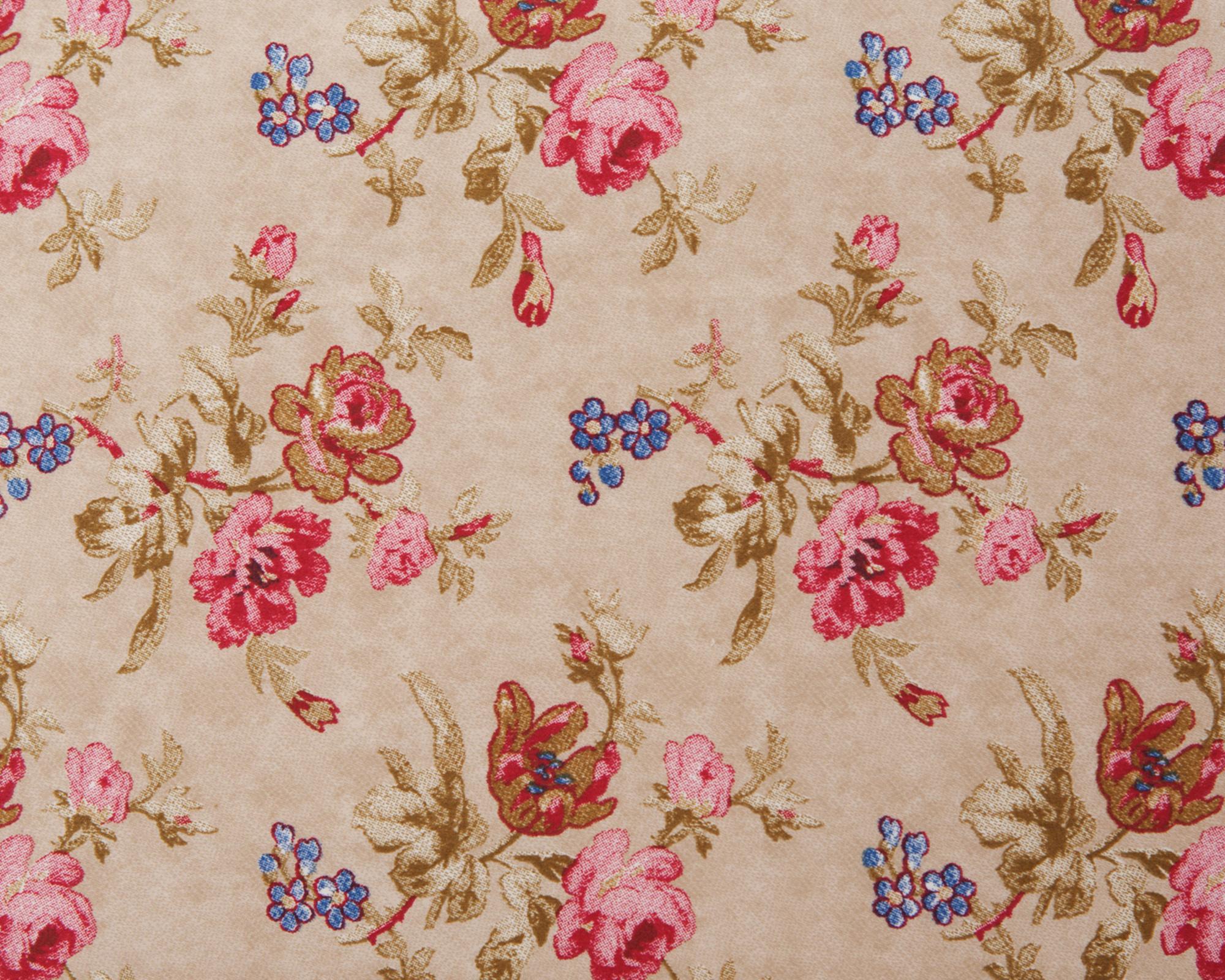 City Floral Sateen Flat Sheet