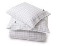 Pin Point Shaker Duvet, White/Gray
