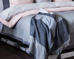 Urban Striped Wool Throw