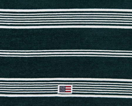 Striped Velour Towel Racing Green/White