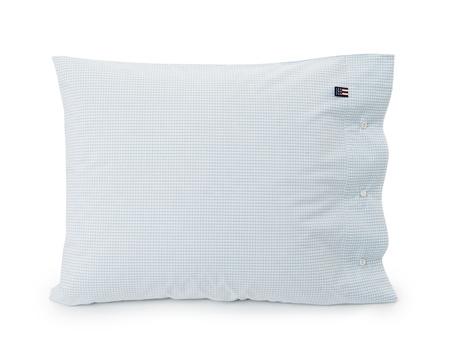 Green Mini Check Poplin Pillowcase