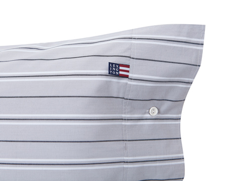 Gray Poplin Stripe Pillowcase