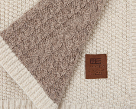 Knitted Patch Throw
