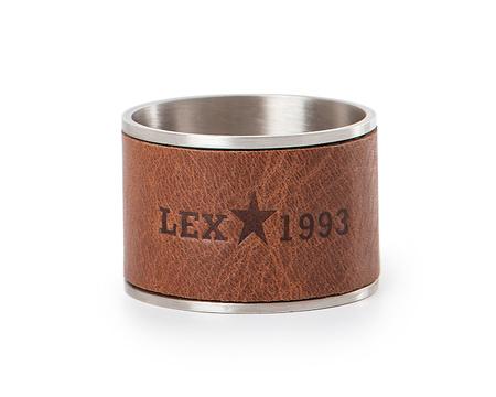 Leather & Metal Napkin Ring