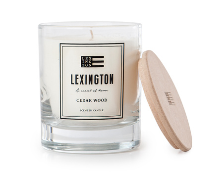 Scented Candle with Wooden Lid, Cedar Wood