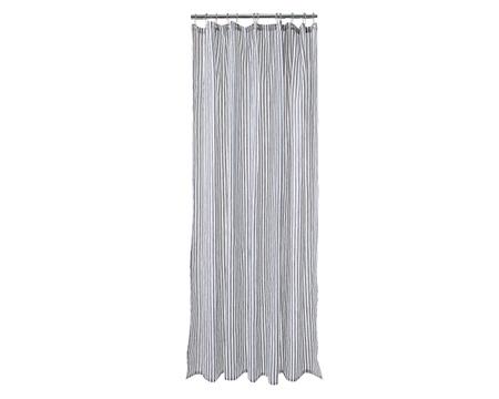 Shower Curtain, Blue/White