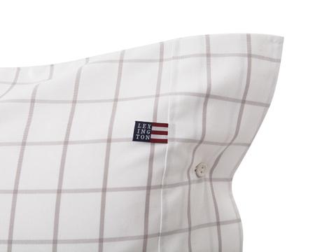 Pin Point Shaker Pillowcase, White/Gray