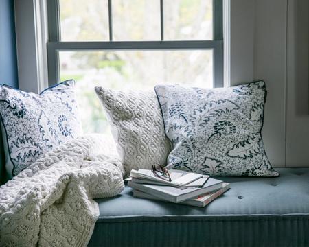 Printed Cotton/Linen Sham