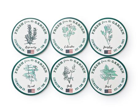 Herb Paper Coaster Set