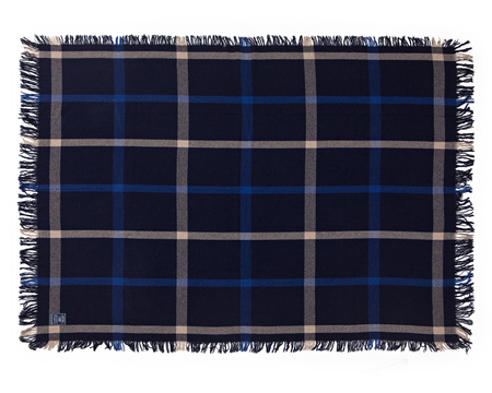 Wool Checked Throw