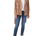 Dana Suede Short Trench