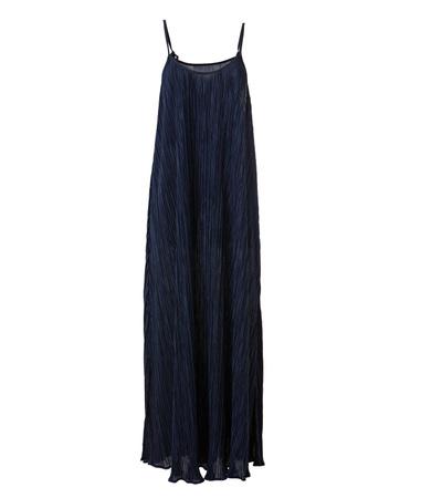 Uma Plissé Long Dress