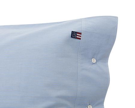 Blue Mini Stripe Poplin Pillowcase