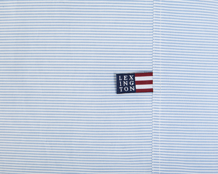 Blue Mini Stripe Poplin Duvet