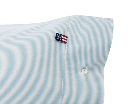 Green Mini Stripe Poplin Pillowcase