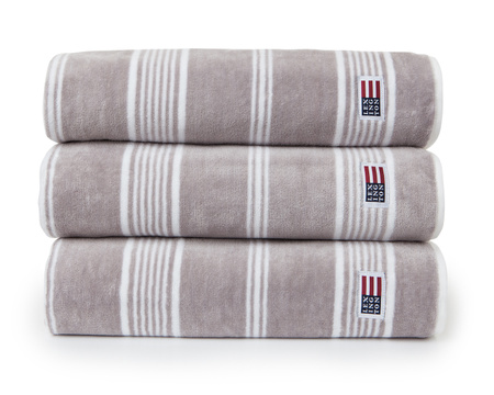 Striped Velour Towel