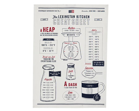 Cheat Sheet Kitchen Towel