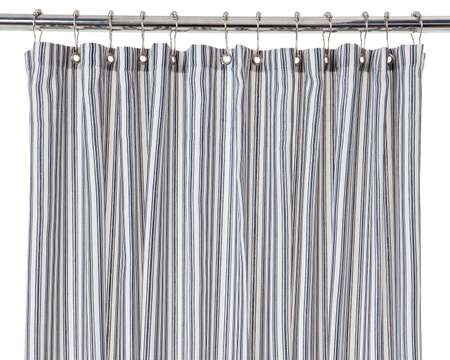 Shower Curtain, Blue/White